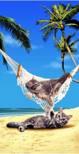 KITTY CAT RELAX BEACH TOWEL